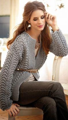 Strik elegant jakke | Familie Journal