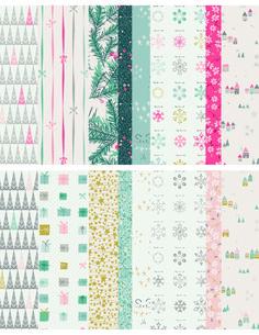 LittleTown Winter/Holiday fabric by Amy Sinibaldi