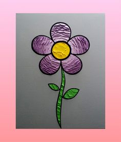 Flower 16 x 20 in. Canvas #LiteralPopArt #PopArt #Art #Flowers #Petals #Nature #Garden Organic #Green #GoingGreen #Lavender #Purple #FadeOut #MichaelCrayola #2017