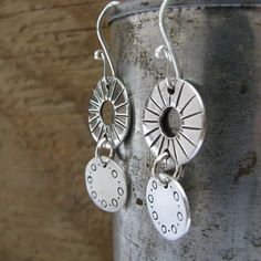 Great metal clay earrings.