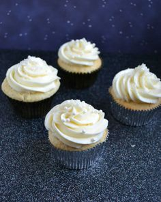Delicious cupcakes filled with champagne pastry cream then topped off with champagne buttercream.