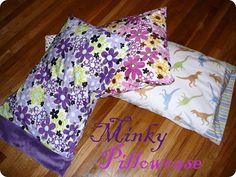 Sweet Peas and Bumblebees: Minky Pillowcase Tutorial & Crafty Gemini Creates - Reversible Headbands Tutorial MSQC ... pillowsntoast.com