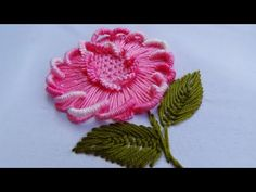 Today we are making this Brazilian Embroidery Flower. Have you heard about Brazilian embroidery? Brazilian Embroidery Stitches, Basic Embroidery Stitches, Hand Embroidery Videos, Hand Embroidery Tutorial, Embroidery Flowers Pattern, Crewel Embroidery, Hand Embroidery Designs, Embroidery Techniques, Beaded Embroidery