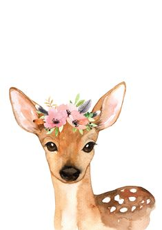 Woodland Nursery Baby Art Prints by Betty Bramble, the perfect gift for Explore more unique gifts in our curated marketplace. Deer Nursery, Woodland Animal Nursery, Woodland Nursery Decor, Woodland Animals, Nursery Prints, Nursery Art, Bunny Nursery, Watercolor Deer, Watercolor Animals