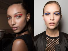 Architectural eyeliner, ombré lips, Twiggy lashes, and more fall 2017 makeup trends. Makeup Trends 2017, Beauty Trends, 2017 Makeup, Skin Makeup, Beauty Makeup, Winter Makeup, Winter Beauty, Runway Makeup, Bright Eyes
