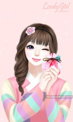 Imagen de art, Enakei, and drawing Cute Baby Girl Images, Girly M, Korean Anime, Lovely Girl Image, Cute Cartoon Girl, Cute Baby Dolls, Cute Girl Wallpaper, Girl Sketch, Cute Cartoon Wallpapers
