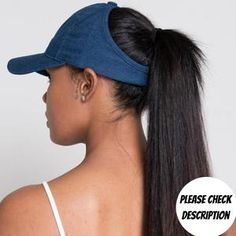 Long Hair Ponytail, High Ponytails, Ethnic Hairstyles, Hat Hairstyles, Beauty Book, Hair Beauty, Denim Cap, Black Skin Care, Pixie Cut