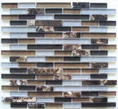 Glass Mosaic Tile Backsplash GS4003 12x12 Bathroom& Kitchen Art Glass Mosaic Tile 10pcs by Glass & Stone Mix Mosaic Tile, http://www.amazon.com/dp/B007INNGBC/ref=cm_sw_r_pi_dp_IZ-hrb0MP79HC