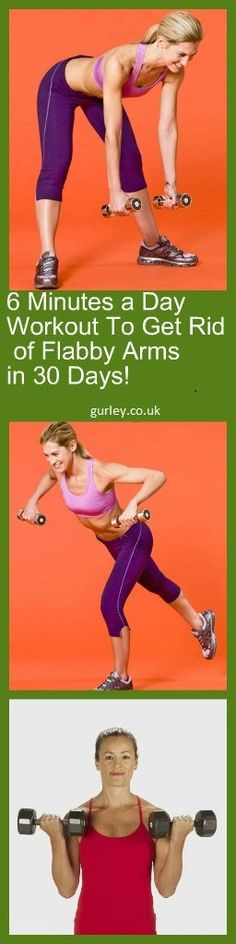 6 Minutes a Day Workout To Get Rid of Flabby Arms in 30 Days pin