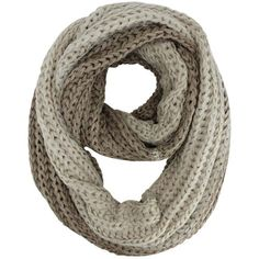 Taupe & Beige Two-Tone Fuzzy Eyelash Knit Infinity Circle Scarf ($22) ❤ liked on Polyvore featuring accessories, scarves, heavy, taupe, circle scarves, infinity loop scarves, infinity scarf, knit infinity scarf and thick knit scarves