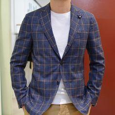 LARDINI Loro Piana RAIN SYSTEM Wool 71% Silk 15% Linen 14%