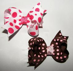 Adorable Infant or toddler bow hair clippies by MoMofStrick2, $4.00