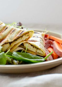 This panini gets it full flavor from the pesto tapenade spread, but feel free to use any of your favorite toppings.