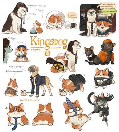wherever you go, there you are — kadeart: Kingsdog : The Fluffy Service Kingsman Harry, Kingsman Movie, Kingsman Series, Kingsman The Secret Service, Kings Man, Nerd Love, Manga, Chibi, Character Design