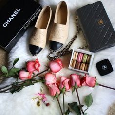 Chanel..roses..and macarons that's all I need