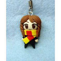 Hermione, keychain,mobile accessories,harry potter,fimo, llavero,colgante de movil,