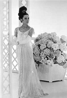 Audrey Hepburn in the Embassy Ball gown (an actual antique Belle Epoque/Edwardian gown flown in from England) from My Fair Lady (photo by Sir Cecil Beaton)
