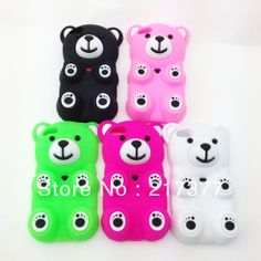 Cute 3D Cartoon Big Bear Stitch Soft Silicone Cover Phone Case for Apple iPod Touch 5 /5G /5th Free Shipping