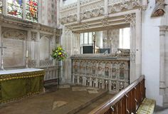 St Mary the Virgin, Ewelme - Tomb Alice Chaucer, Duchess of Suffolk Granddaughter of Geoffrey Chaucer; wife of William de la Pole, Duke of Suffolk 1404--1475