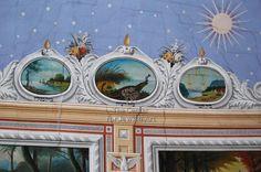 Grain Merchants' Synagogue in Bacău - Zodiac Signs Artist/ Maker Grünberg (Grinberg), Mendel Date : Origin: Romania Jewish Art, Oval Frame, Persecution, East Africa, Romania, Libra, Zodiac Signs, Astrology, Reflection