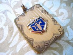 Victorian Gold Filled Knights of Columbus Locket Watch Fob. $88.00, via Etsy.