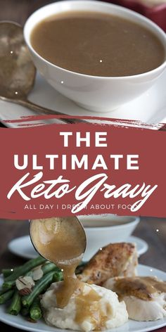 Learn how to make the best keto gravy with this easy recipe. Rich and delicious, you won't miss the carbs! Great with roast turkey or chicken.