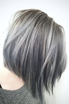 33 Short Grey Hair Cuts and Styles - Hair ColorCute Short Grey Hairstyles picture 3 ❤ Are you looking for the most flattering short grey hair color ideas and styles? Check out our amazing collection to get inspired! Grey Hair Dye, Ombre Hair Color, Cool Hair Color, Purple Hair, Pastel Hair, Brunette Hair With Highlights, Hair Color Highlights, Brown Hair Grey Highlights, Highlights For Greying Hair