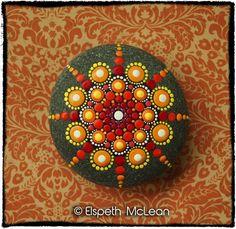 Inspiration - Jewel Drop Mandala Stone by Elspeth McLean ...
