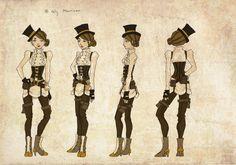 Steampunk Female by lyles.deviantart.com on @deviantART