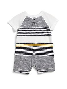 Splendid Infant's+Striped+Jersey+Coverall