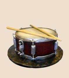 Grooms drum cake