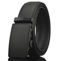 New No Magnet business Fashion Automatic Buckle Men's belt Genuine Luxury leather belt black belts for men Q6