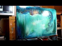 "▶ James Kruse Acrylic Drip Technique. ""Origins"" beginning, 36x24 - YouTube"