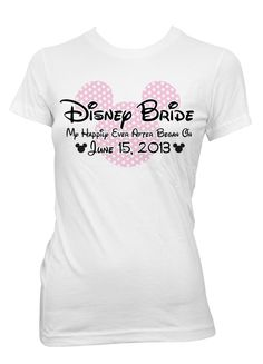 Disney Bride Happily Ever After Iron-On Transfer