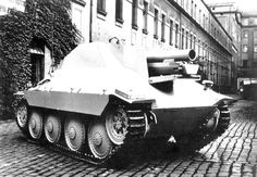 Since the termination of production for the Sd Kfz Ausf M in troops still needed many SPGs. It was decided in November 1944 to build it on the Hetzer chassis. Only 30 vehicles were produced, had a crew of four. Army Vehicles, Armored Vehicles, Luftwaffe, Panzer Ii, Self Propelled Artillery, Armoured Personnel Carrier, Heavy And Light, Ww2 Photos, Tank Destroyer