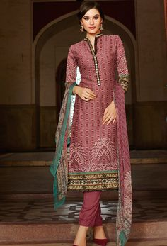 #Light #Maroon Art #Silk #Straight #Suit #nikvik  #usa #designer #australia #canada #freeshipping #pakistanisuit