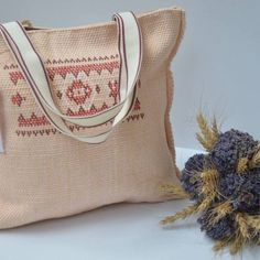 Geanta tesuta manual Mariuca - handmade with love by Sigo Manual, Burlap, Reusable Tote Bags, Traditional, Hessian Fabric, Jute