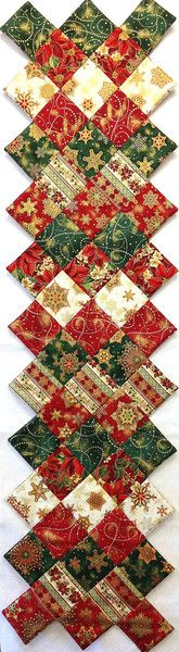 Jagged Edge Christmas Table Runner Kit Holiday Flourish