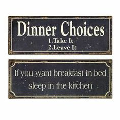 """Two-piece typographic wall plaque set.    Product: 2 Piece wall decor setConstruction Material: TinColor: Distressed black and whiteFeatures:  Whimsical styleCharming designWill enhance any décor  Dimensions: 6"""" H x 15.75"""" W each"""