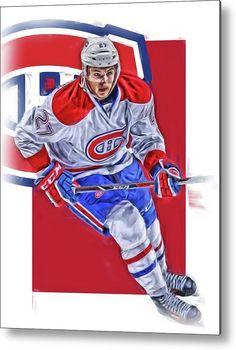 Alex Galchenyuk Metal Print featuring the mixed media Alex Galchenyuk Montreal Canadiens Oil Art by Joe Hamilton
