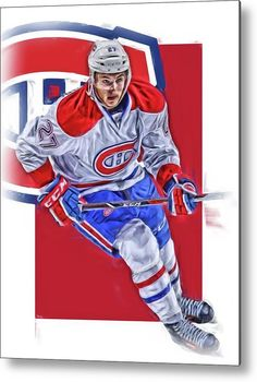 Alex Galchenyuk Metal Print featuring the mixed media Alex Galchenyuk Montreal Canadiens Oil Art by Joe Hamilton