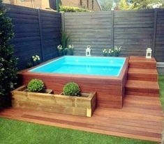 65 stunning little pool design ideas for the home garden . 65 stunning little pool design ideas for the home garden . Building A Swimming Pool, Small Swimming Pools, Small Pools, Swimming Pools Backyard, Swimming Pool Designs, Pool Landscaping, Pool Pool, Small Pool Ideas, Pool Cabana