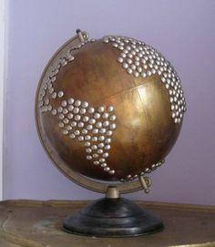 Vintage Nailhead Golden Globe by fluxlux on Etsy