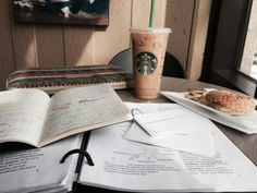Get coffee and study in a coffee shop More