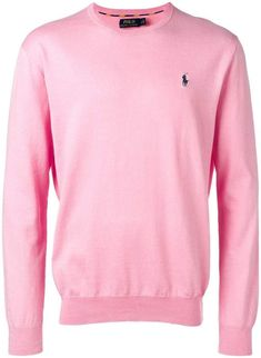 Polo Ralph Lauren Logo Embroidered Sweater In Pink Ralph Lauren Store, Ralph Lauren Blazer, Fashion Magazines Uk, 70s Fashion Pictures, Preppy Mens Fashion, All Black Outfit, Black Outfits, Fashion Catalogue, Dress For Success