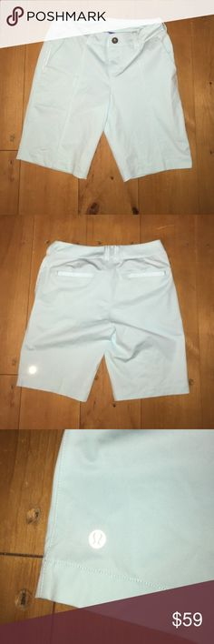 Lululemon Ladies Golf Shorts Light Blue 4 Lululemon shorts for golf or other activities. Color doesnt show well in the pictures but is a really pretty light icy blue. Size four but seem to run small. EUC! 💕 lululemon athletica Shorts Bermudas