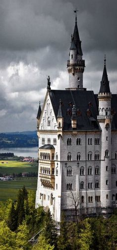 Neuschwanstein Castle, Bavaria, Germany by Matt Burke - The Disney castle is modeled after this building.
