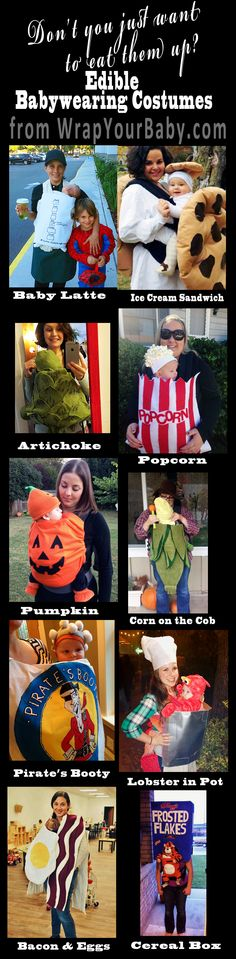 Adorable food-themed Costume Ideas for Babies in Baby Carriers!  #BabywearingHalloweenCostumes
