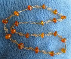 Vintage Retro USSR Latvian jewelry Necklace with Multi-Color Baltic Amber 30 g