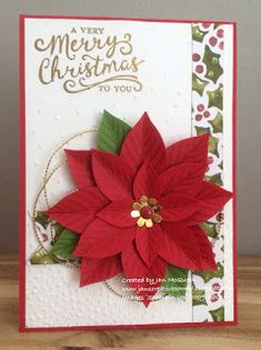 Christmas card made using Stampin Up's Reason For The Season by Jan MacQueen. www.janscreativecorner.blogspot.com